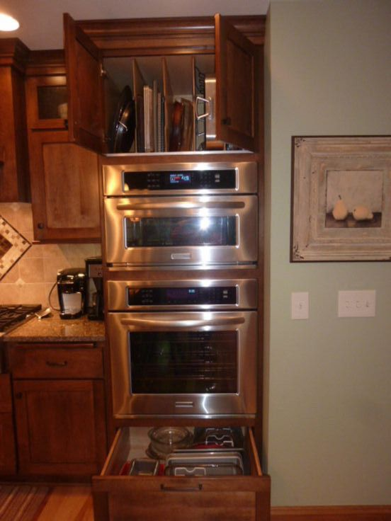 Kitchenaid separate wall oven microwave house designs for Wall oven microwave combo cabinet