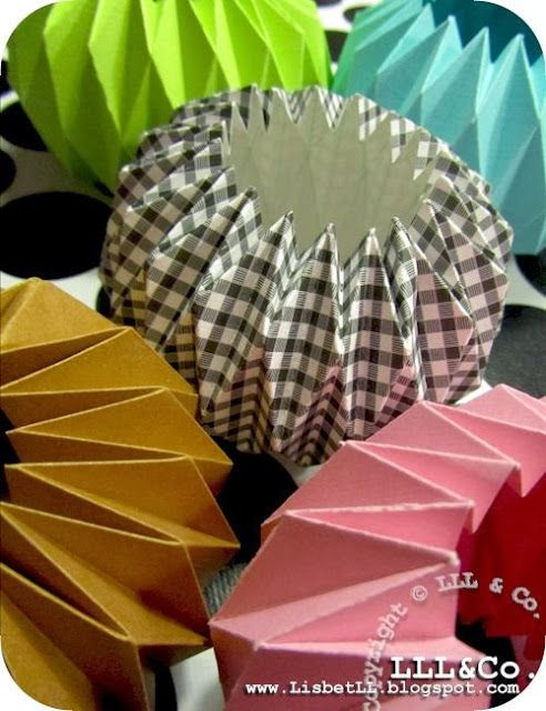 LLL og Co.* Origami Paper candle holders Template herehttp://www