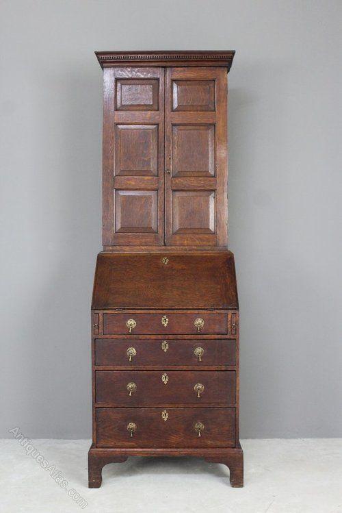 Antique Oak Bureau Bookcase Antiques