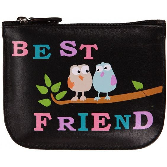 Mala Leather Pinky Best Friend Leather Zip Top Coin Purse £12.00 available from www.kubi.co.uk - malaleather #malaleather best friend purse purses leatherpurse leatherpurses coinpurse coinpurses leathercoinpurse aw13 2013 birds bird gift gifts xmas christmas presents black