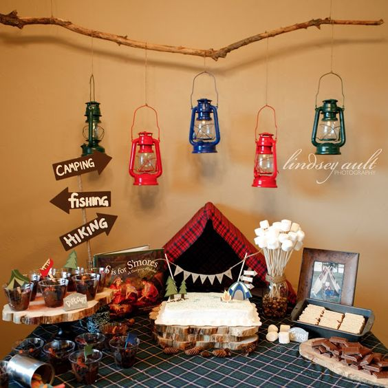 ... . So many great ideas for an adorable camping theme birthday party
