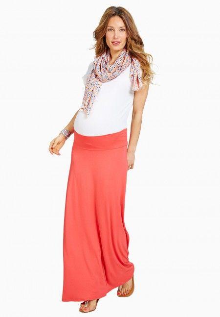 Envie de Fraise // Marjorie Maternity Skirt #MaternityStyle #Maternity #Fashion #BumpStyle #Mumtobe #BabyBump #CoralSkirt