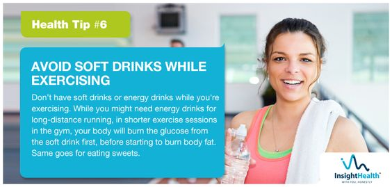 Today's Health Tip: Avoid soft drinks while exercising. #healthtips