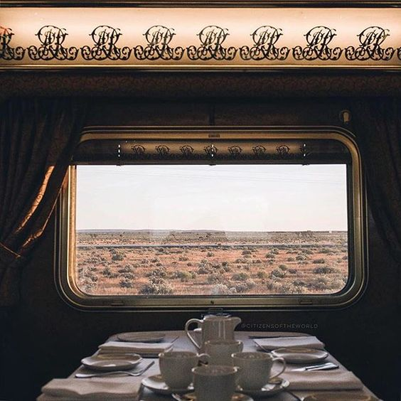 """""""Some of Australia's rural landscapes can be brutal and always require a healthy sense of awareness to explore, to say the least. Or you can enjoy a bit of a soft-introduction via the dining room car on the Indian Pacific"""" #IamATraveler by @citizensoftheworld 🚊"""