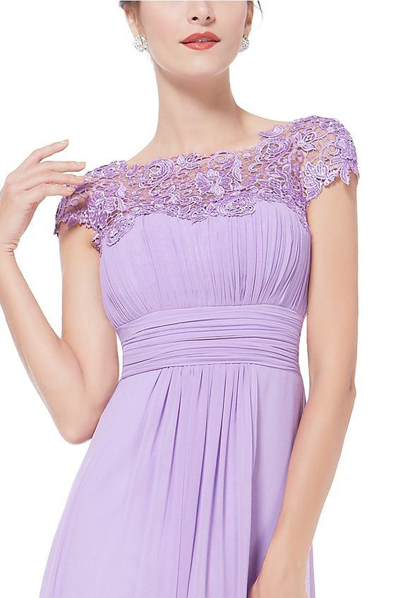 Chiffon And Lace Draped Maxi Dress : Maxi Evening Dresses + Casual Wear