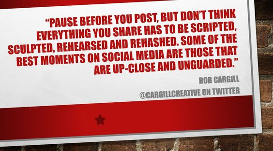 Some of the best moments on #SocialMedia are those that are up-close and unguarded...