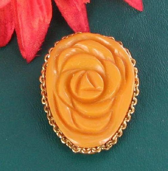 Vintage Tested Genuine Butterscotch Yellow by vintagejewelrylane, $65.00