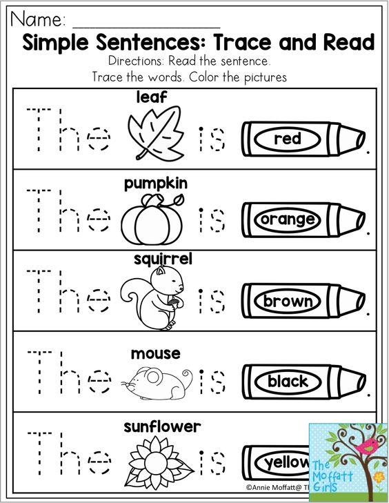 Learn to read kindergarten complete sentence