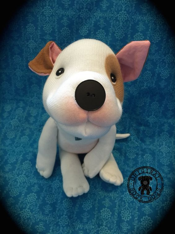 "Original Sock Mutt ""Carmela"" by Original Sock Dogs http://www.sockdogs.com"