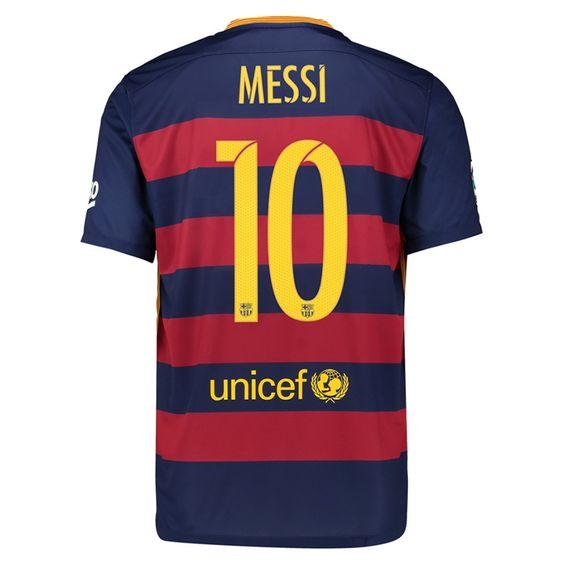 It seems like nothing can stop Leo Messi. His goal scoring and playmaking is unbelievable. Pairing him with Neymar and Suarez, not much can be done. Get the new Nike Barcelona 2015-16 home soccer jersey today. Order your Messi soccer jersey at SoccerCorner.com  http://www.soccercorner.com/Nike-FC-Barcelona-MESSI-10-15-16-Home-Jersey-p/tt-ni658794-422-hero-messi.htm