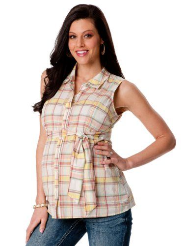 Motherhood Maternity: Sleeveless Button Front Maternity Blouse $9.99