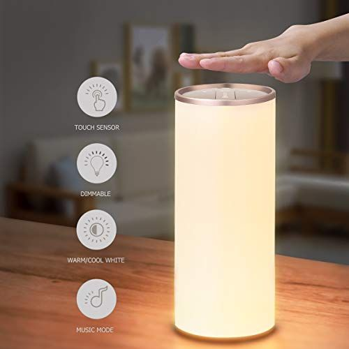 Yunlights Table Lamp Dimmable Bedside Lamp With Gesture Https Www Amazon Com In 2020 Bedside Lamp Cordless Table Lamps Living Room Office