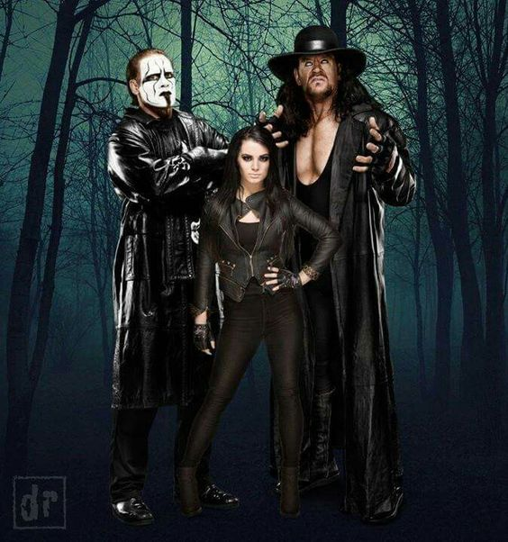 WWE's Sting and Paige and The Undertaker. (Wild collection)