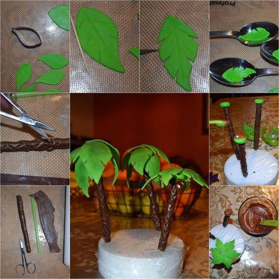 G teau de jungle tutoriel pour faire des g teaux and for Fabriquer un palmier artificiel