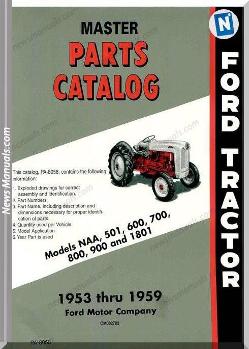Ford Tractor 600 800 Parts Manual | Ford tractors, Ford tractor parts, Tractor  partsPinterest