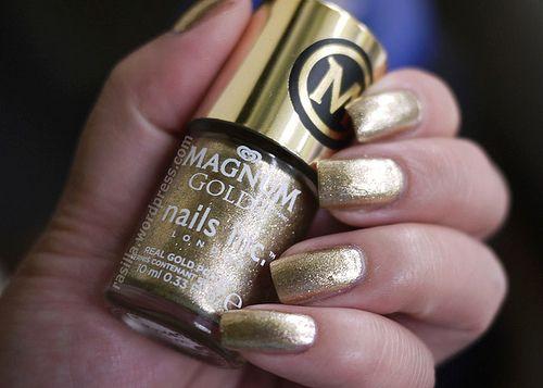 Magnum Gold Nails Inc Golden Touch Polish #limitededition #le #nailpolish