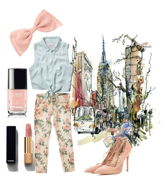 """""""city mood"""" by sophiejf on Polyvore featuring Current/Elliott, Abercrombie & Fitch, Gianvito Rossi and Chanel"""