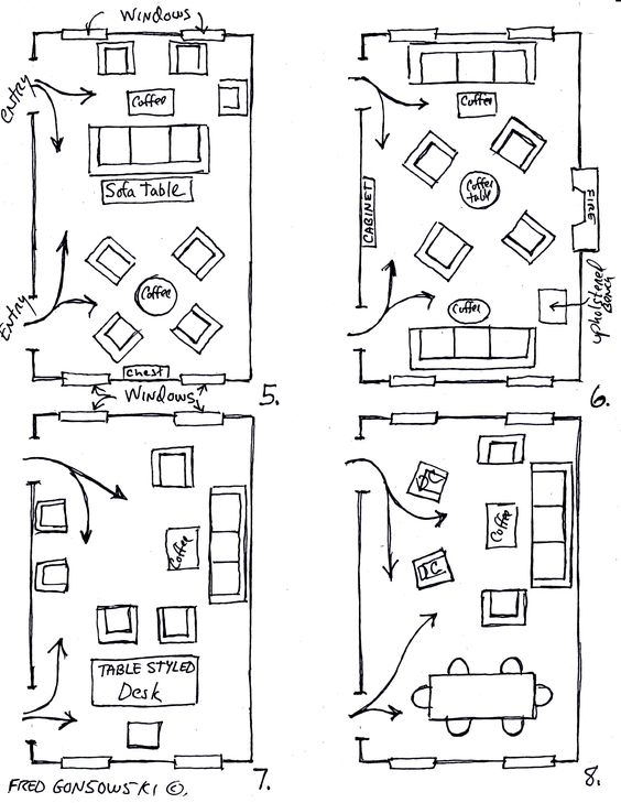 How To Arrange Furniture In A Narrow Living Room   Living Room