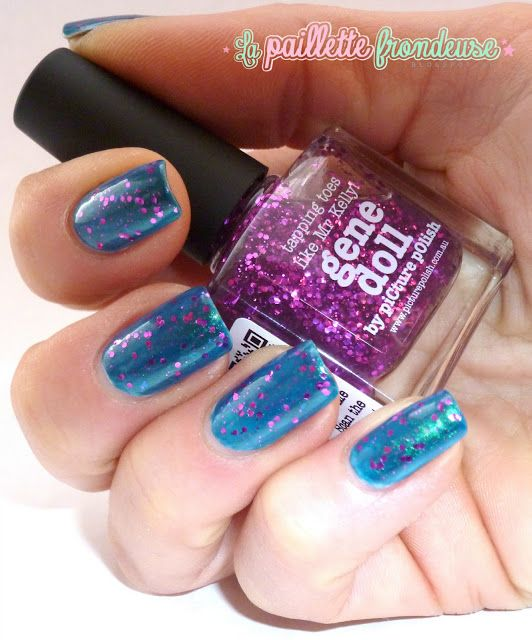 piCture pOlish 'Gene Doll & Pshiiit' mani creation by La Paillette Frondeuse!  WOWZA