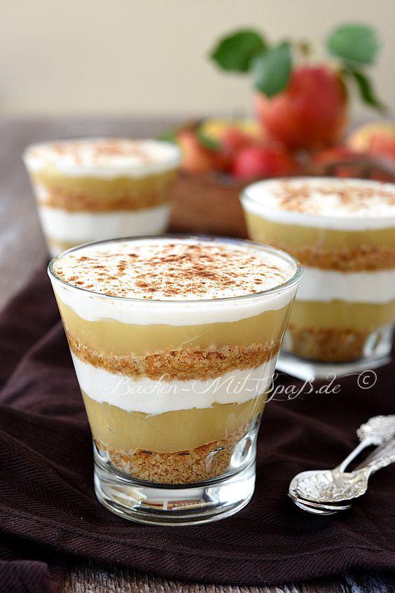 Apfelmus- Joghurt- Dessert