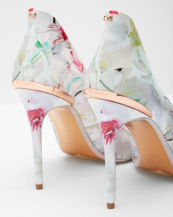 Pointed leather court shoes - Baby Pink | Footwear | Ted Baker UK