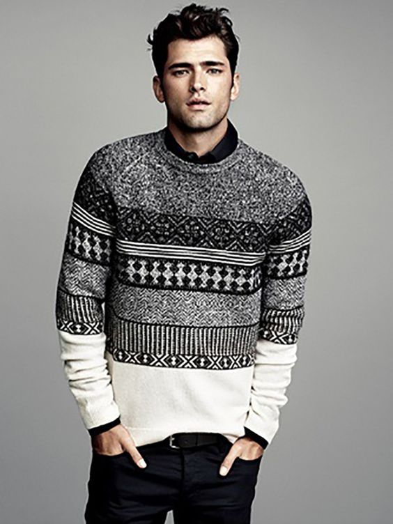 Mens Winter Style Inspiration , Sweater Weather! mens fashion winter sweater