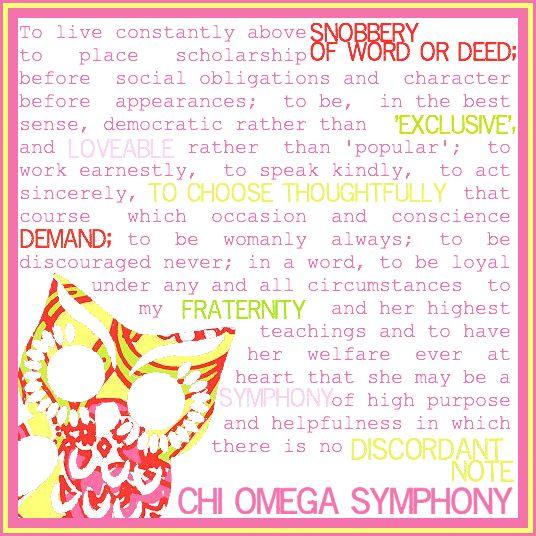 Chi Omega Symphony.