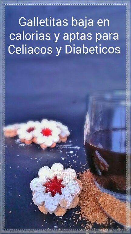 Galletas bajas en calorías sin gluten. Aptas para celiacos