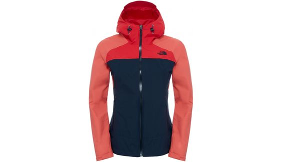 The North Face Stratos Jacket Women Urban Navy/Spiced Coral/High Risk Red…