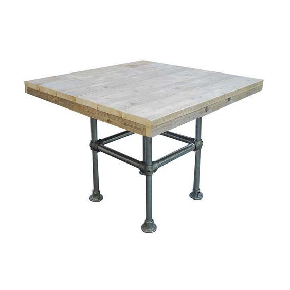 Steigerbuis tafel vierkant | Steigerhoutstunter
