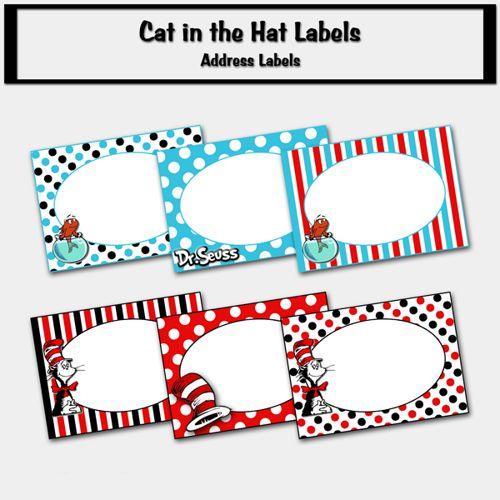 Dr Seuss Address Labels - 2 DR SEUSS Pinterest Printable party - printable address labels free