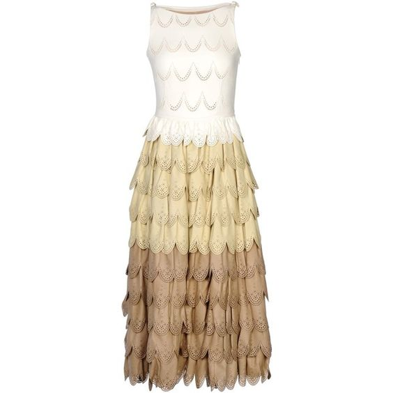 Dsquared2 Knee-length Dress ($2,635) ❤ liked on Polyvore featuring dresses, ivory, dsquared2, beige dress, ivory dress, sleeveless dress and ivory sleeveless dress