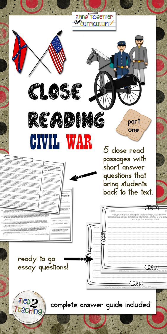 An excellent way to integrate ELA and Social Studies or American History, this fantastic resource for upper elementary or middle school students is great for daily review, centers, early finishers, or even whole class instruction. Some topics addressed include: Sectionalism Tariffs Plantations Slavery Slave Rebellions Slave Codes The Underground Railroad The Missouri Compromise The Compromise of 1850 The Dread Scott Case The Election of Abraham Lincoln