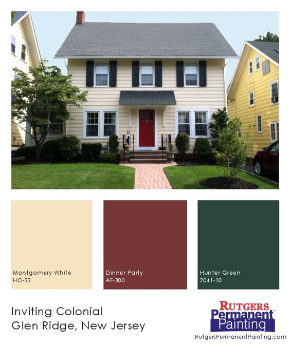Cheerful Yellow Siding Is Matched With A Bright Red Door