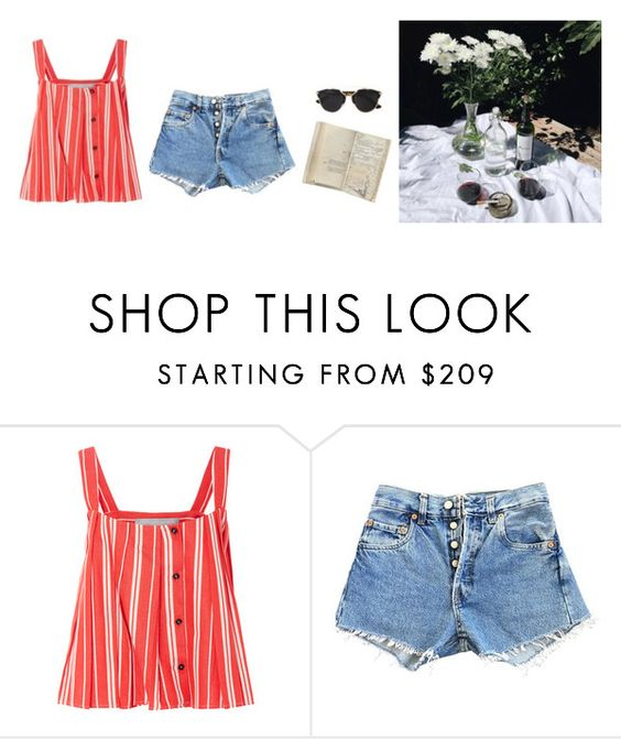 """Untitled #574"" by giuliabardelli ❤ liked on Polyvore featuring Christine Alcalay, Levi's, Christian Dior and Monday"