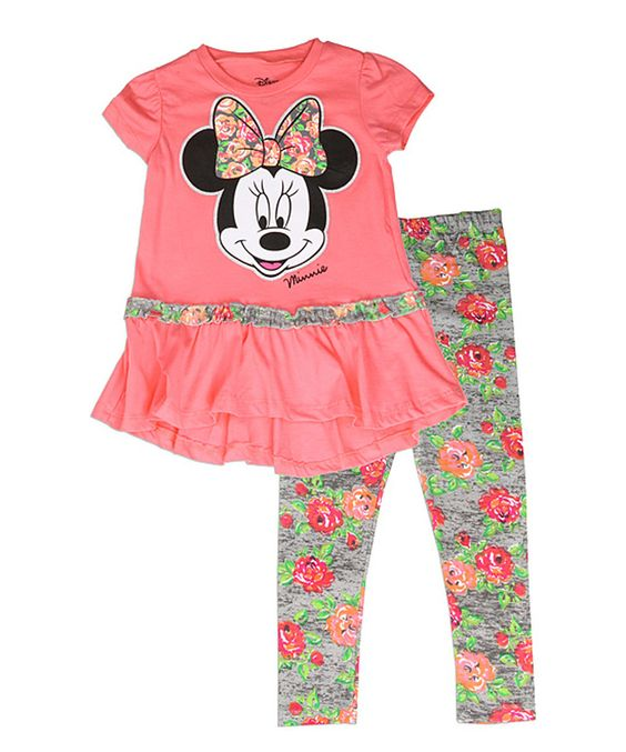 Another great find on #zulily! Minnie Mouse Floral Tee & Leggings - Infant & Toddler by Minnie Mouse #zulilyfinds