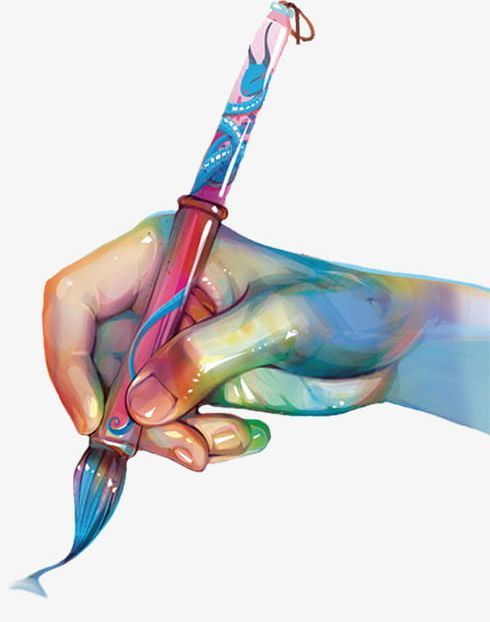 Hand Holding Pen Png Brush Hand Clipart Holding Clipart Painting Pen Clipart Paint Brush Art Art Room Posters Paint Brush Drawing
