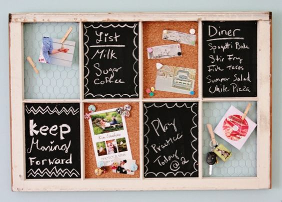 Old window organizer DIY by Ashlee from My So Called Life, featured at http://savedbylovecreations.com #upcycle #crafts #DIY