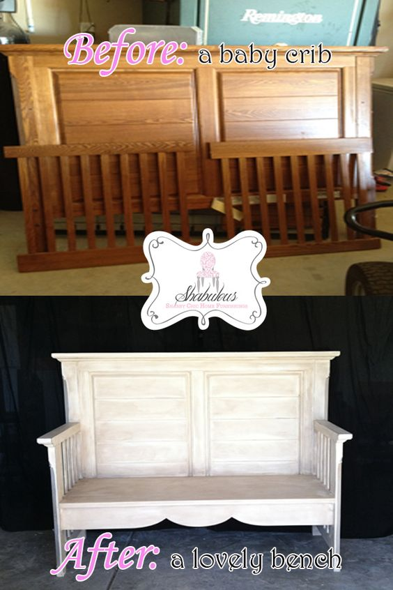Repurposed Baby Crib Into A Bench What A Sweet Way To
