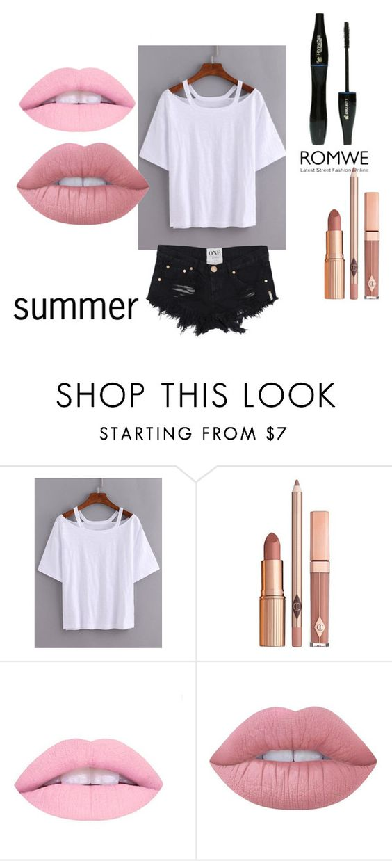 """""""romwe"""" by birthday-i ❤ liked on Polyvore featuring Dolce Vita, Lancôme and Lime Crime"""