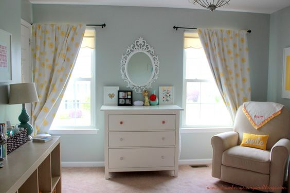 Modern nursery with pops of yellow