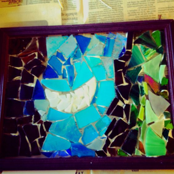 My first glass mosaic I made!!!