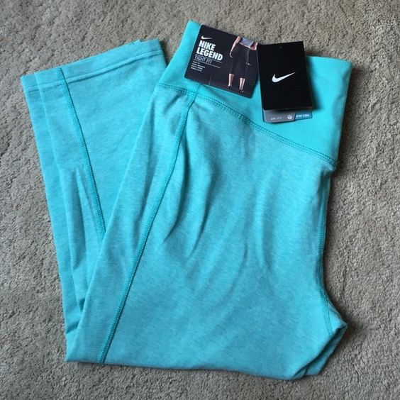 NWT! Nike capris NWT! Nike dri-fit capris! A soft bright teal color! Only ever tried on! Great color for summer! Nike Pants Capris