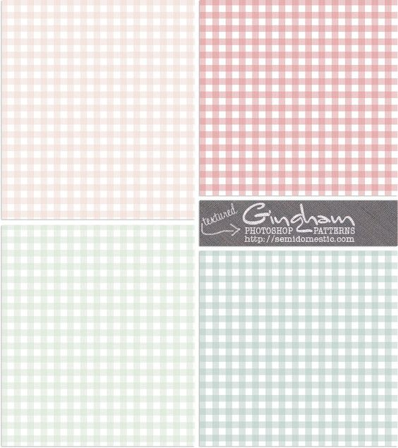 Free Gingham Photoshop Patterns - Retro Spring
