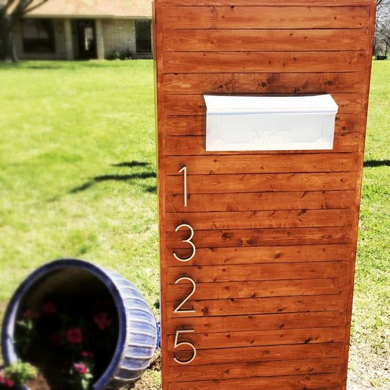 Modern mailbox. Simple weekend project.