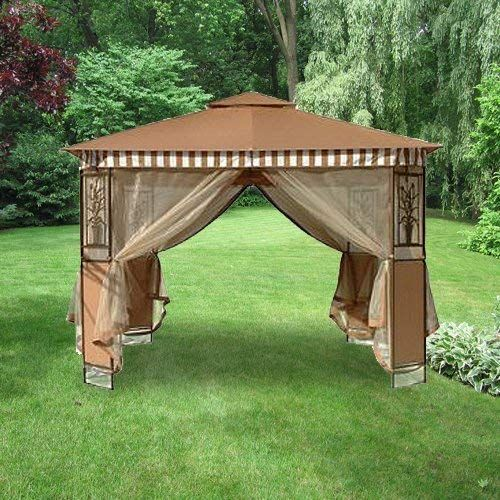 New Garden Winds Tivoli 10 X 10 Gazebo Series 2 Replacement Canopy Top Cover Solid Beige Color Only No Striped Valence Online Gazebo Replacement Canopy Gazebo Replacement Canopy