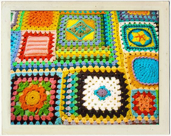 Joining #Crochet Squares of Different Sizes: free how-to: