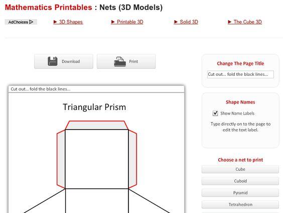 ... shapes http://www.senteacher.org/worksheet/12/NetsPolyhedra.html