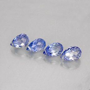 3.9ct Violet Blue Sapphire Gems from Sri Lanka