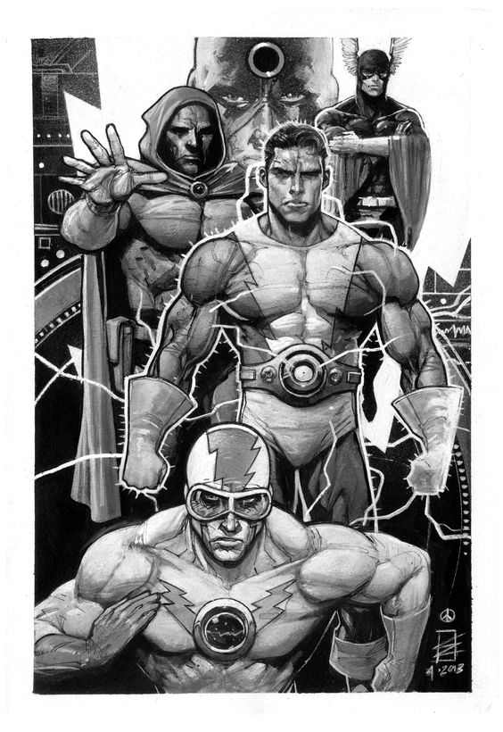 Wally Wood's' T.H.U.N.D.E.R. AGENTS Original Art by Eddy Newell